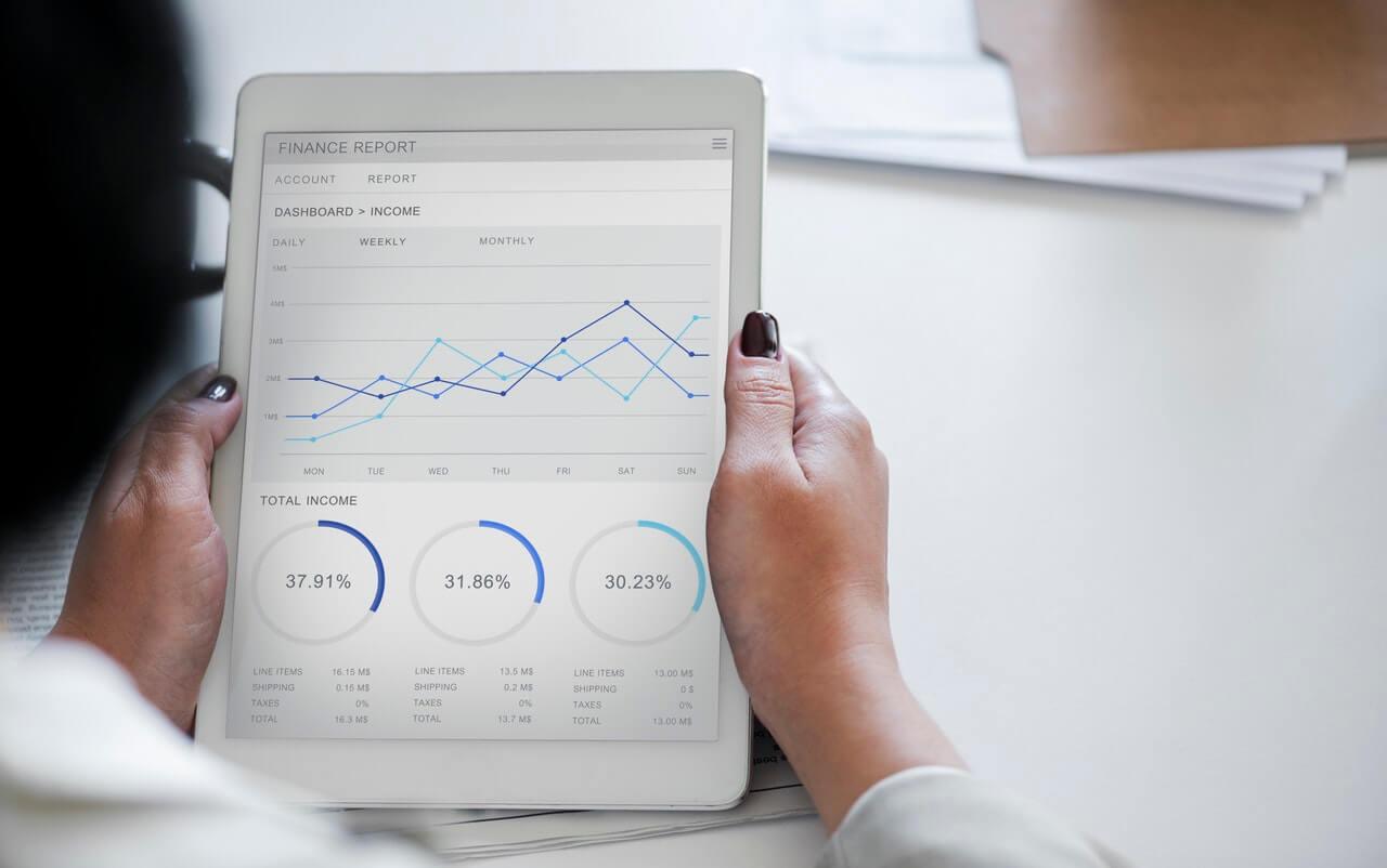 Financial charts on mobile device - Entrepreneur - Business Entrepreneurship - Small Business Advisory Firm - Clarityfi